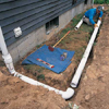 Continue installing pipes along the trench