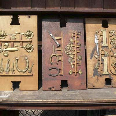 positives of sandcasting molds at Salvage Fest