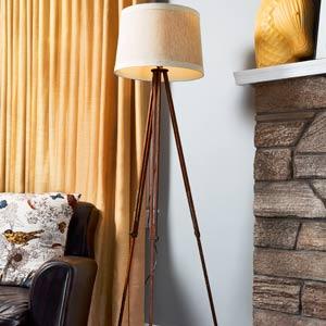 vintage style tripod floor lamp
