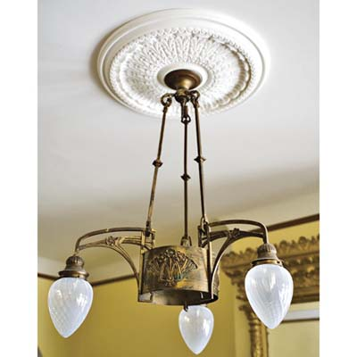 ceiling light fixture from 1920s era