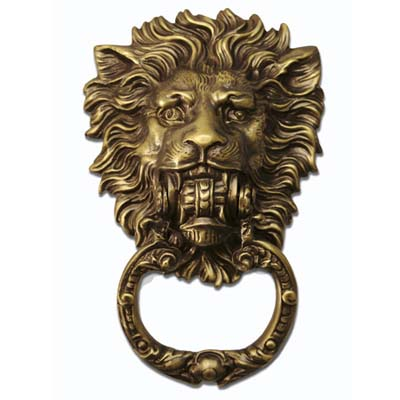 lion symbol door knocker