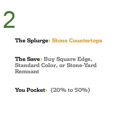 Save While You Splurge: Stone Countertops