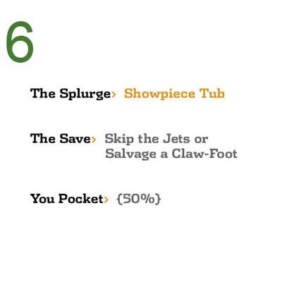 Save While You Splurge: Showpiece Tub