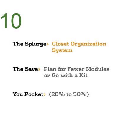 Save While You Splurge: Closet Organization System