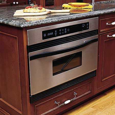 Speed-cook oven with granite countertop