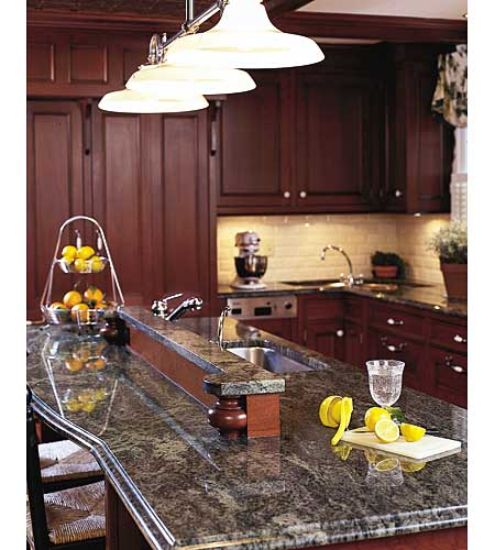 kitchen island with furniture-style details