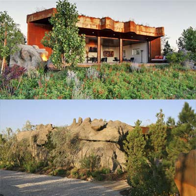 joshua tree, california boulder house