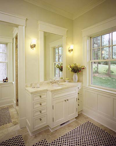 bathroom photos, bath design, tile bath vanity, bathroom sinks, bath lighting, bath color, haverson architecture