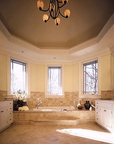 bathroom photos, bath design, large bathtub, bath fixtures, windows, bath lighting, haverson architecture, bath tile