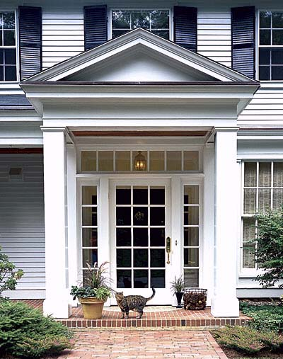 portico with classical proportions