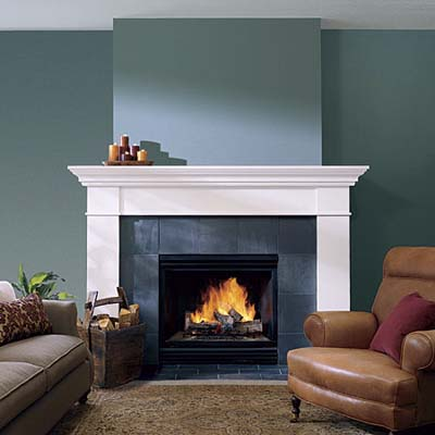 Big Fireplaces Don 39 T Have To Loom Fireplace Design Ideas