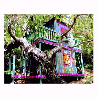 Two story children's playhouse