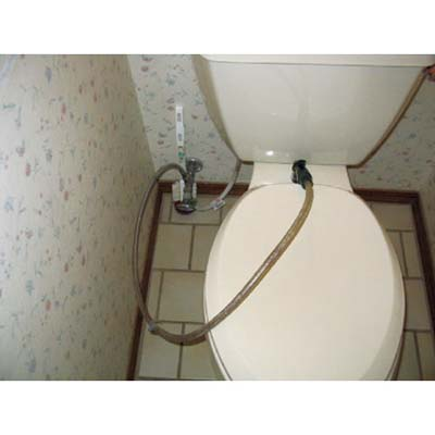 sprayer attached to toilet