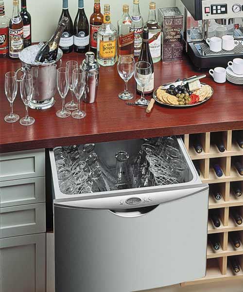 energy saving dishwasher beneath the sink