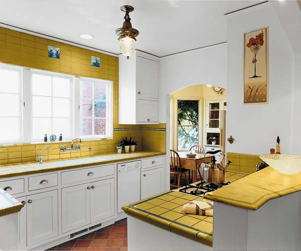 After space saving kitchen a small kitchen gains space for Tiny kitchen layout ideas