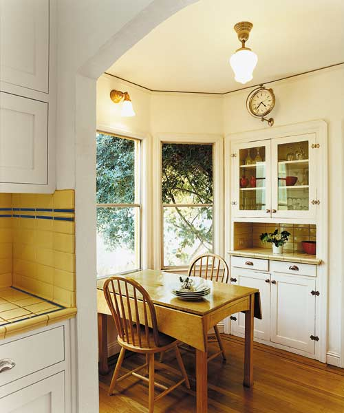 Charming breakfast nook a small kitchen gains space within the same footprint this old house - Breakfast nooks for small kitchens ...