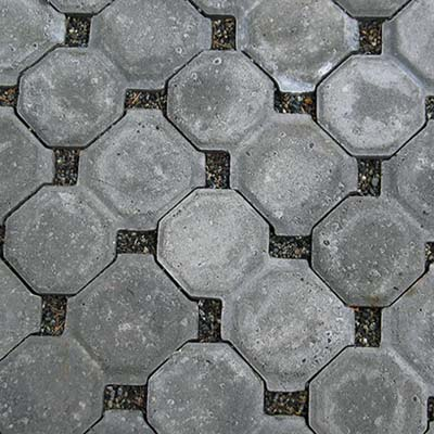 concrete pavers with voids of quick drainage gravel
