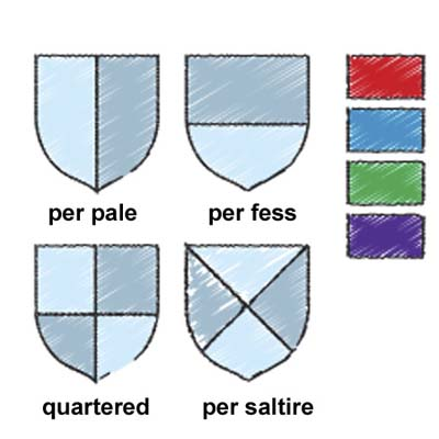 shield design and colors