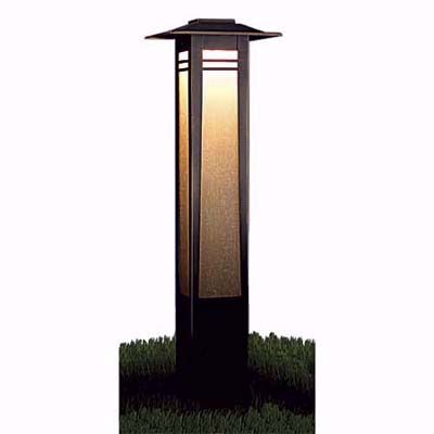 Kichler lamp pillars match perfectly with shrubs or flower beds