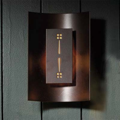 misson-style sconce by hubbardton forge