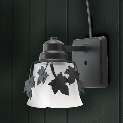 leafy luminance sconce from avalanche ranch light company