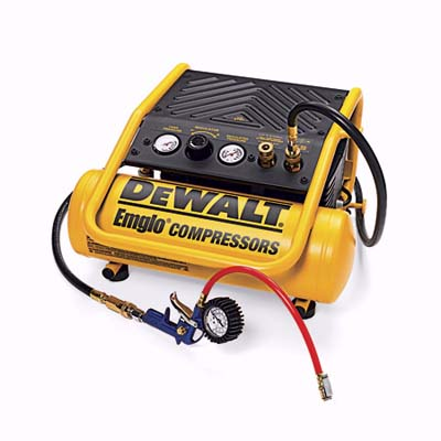 air compressor with dual couplings and tire inflator