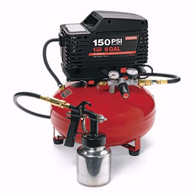 multi-purpose compressor with 6-gallon tank