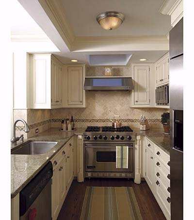 Small galley kitchen design layouts with laundry for Galley style kitchen remodel ideas
