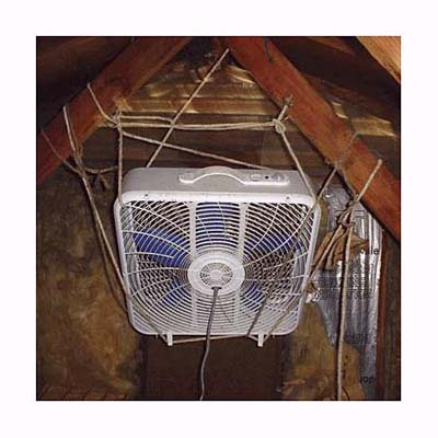 an attic fan nightmare