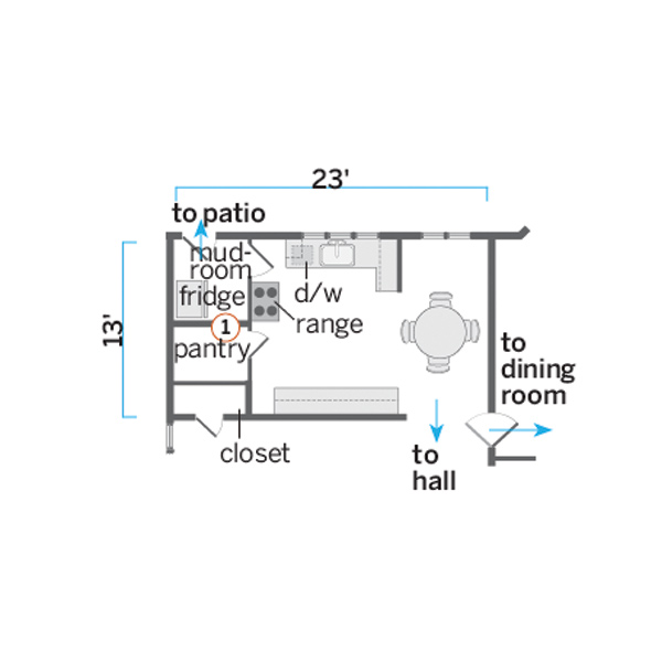 Kitchen illustration of floor plan