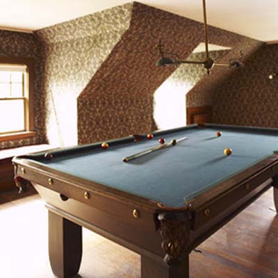 billiards room and man cave