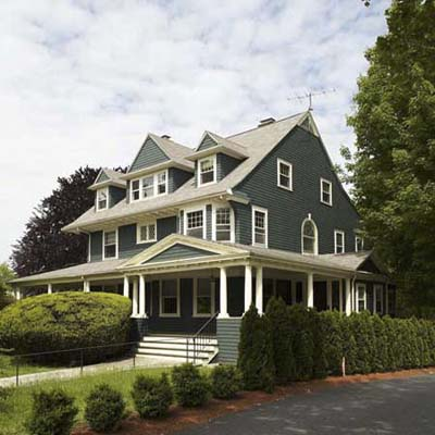 A shingle style house in Newton, Mass.