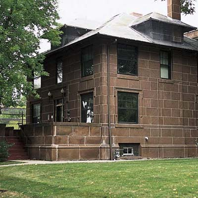 sandstone-block house in north dakota