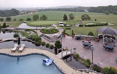 Panorama of Indy driver Michael Andretti's property