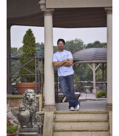 Michael Andretti outside his home