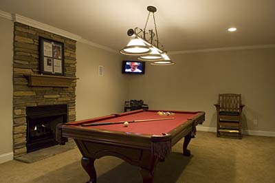 NBA star Chris Paul's billiards room