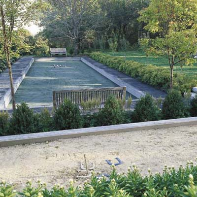 bocce court and horseshoe court