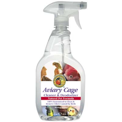 bird cage cleaner and deodorizer