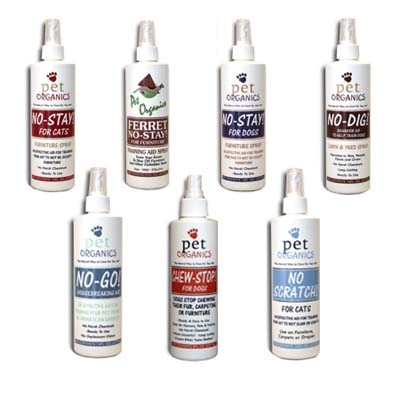 bottles of spray designed to train house pets