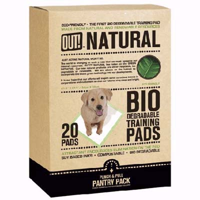 bio-degradable training pads for dogs