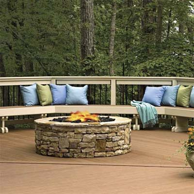 deck designed as outdoor rooms