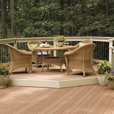 маленькая столовая на террасе