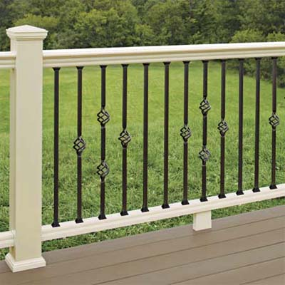 vinyl sleeved wood posts used in railings