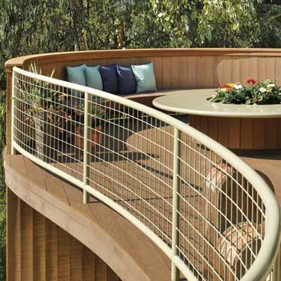 powder-coated steel railing
