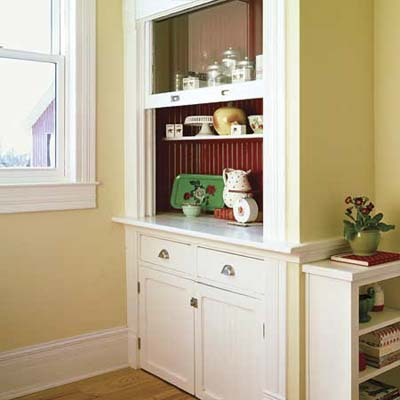 shaker-style cabinets with old-style charm