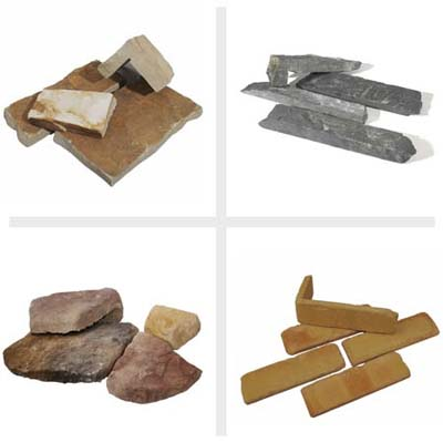 stone veneers offer a varied and viable alternative to real stone