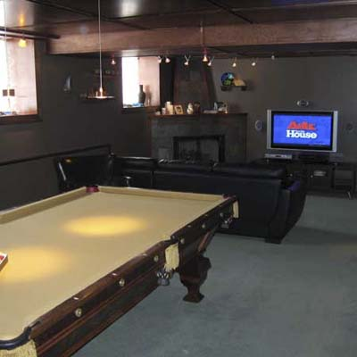 basement family retreat after remodel