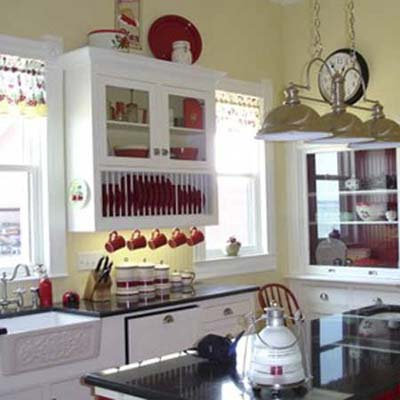 Photo of kitchen remodeled with ebay items
