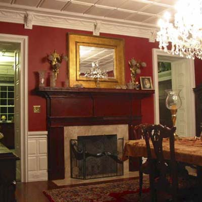 Federal fireplace and mantel after remodel