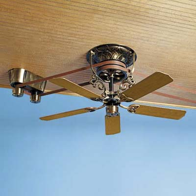 ceiling fan with pulley system